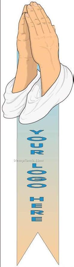Praying Hands Bookmark W/ Black Back