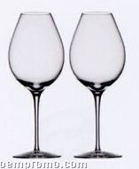 "Difference ""Primeur"" Crystal Wine Glass Set W/ Flavor Enhance Design"