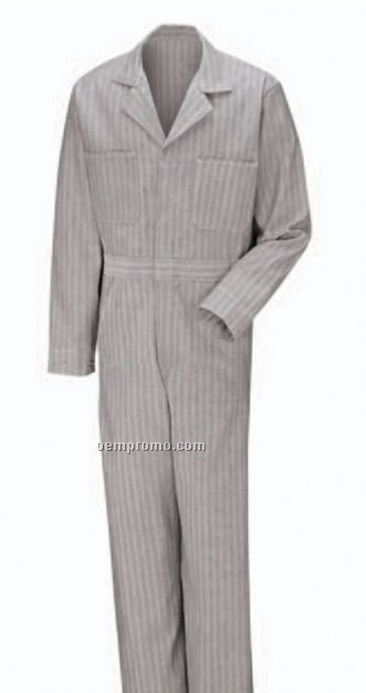 Men's 100% Cotton Coverall With Button Front Closure (Solid Colors)