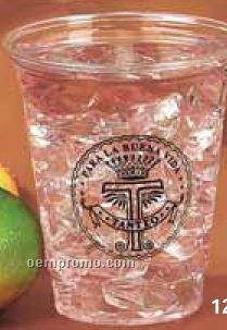 12 Oz. Clear Medium Party Cup (High Speed Offset Printing)