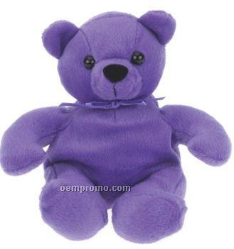 36ca5f0633c Laying Purple Bear Beanie Stuffed Animal