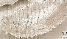 """Nickel Plated Leaf Dish (11""""X6"""")"""