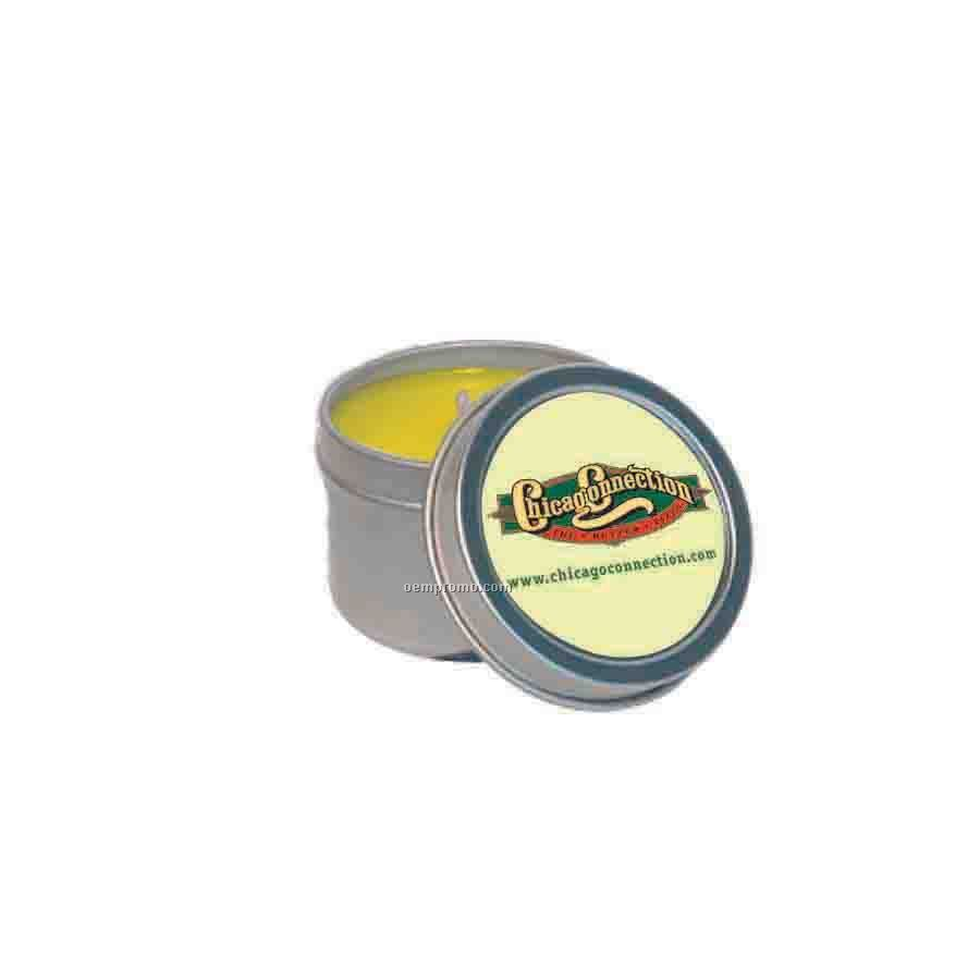 4 Oz. Lemon Chiffon Round Tin Soy Candle