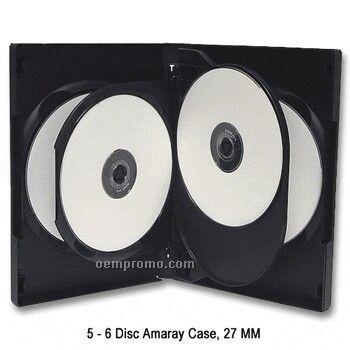 5 - 6 Disc DVD Flip Tray Case - 14 Mm