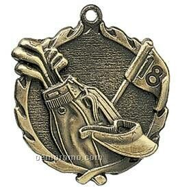 "Medal, ""Golf"" Wreath - 2-1/2"" Dia."