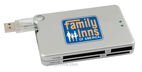 USB 1.1 Hub W/ Built-in Memory Card Reader