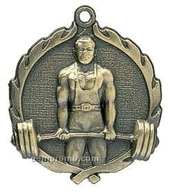 "Medal, ""Weightlifting"" Wreath - 2-1/2"" Dia."