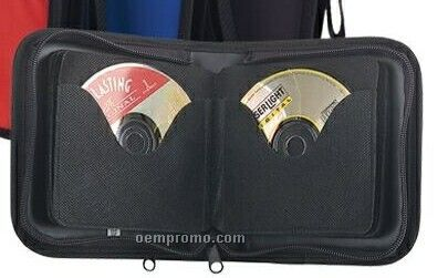 2-tone 24 CD Holder W/ Colored Nylon Front Cover