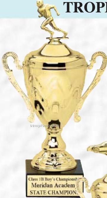 """21"""" Fontana Series Metal Trophy Cup On Genuine Black Marble Base"""