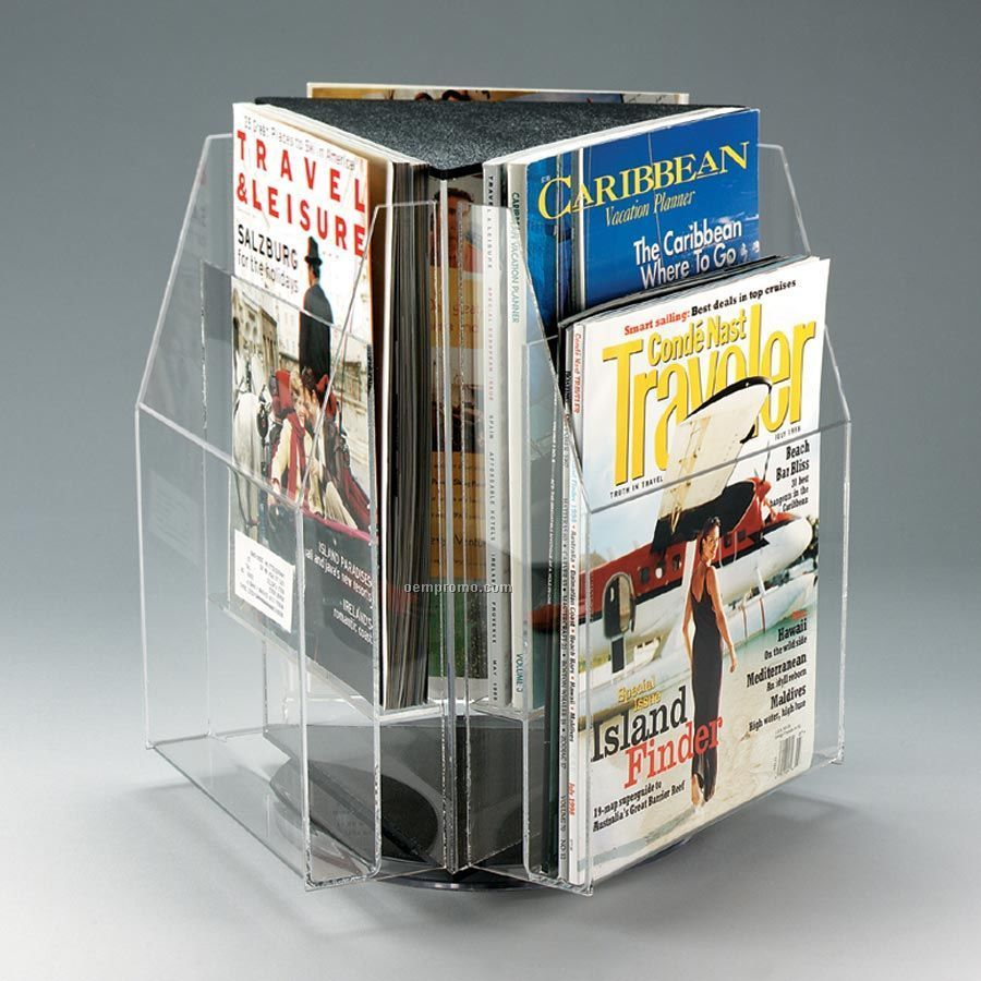 a four large pl rotating capable style iron stand slots of midcentury rack from furniture display store with holding cgi wood architectural papers bin retro magazine hundreds racks wrought vintage modern