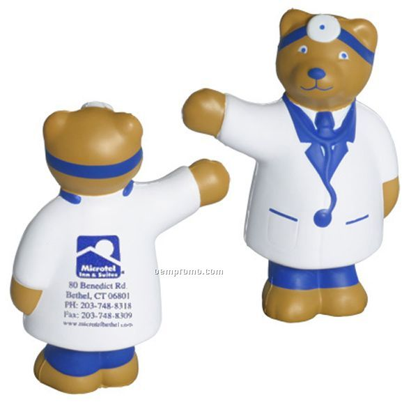 Doctor Bear Squeeze Toy