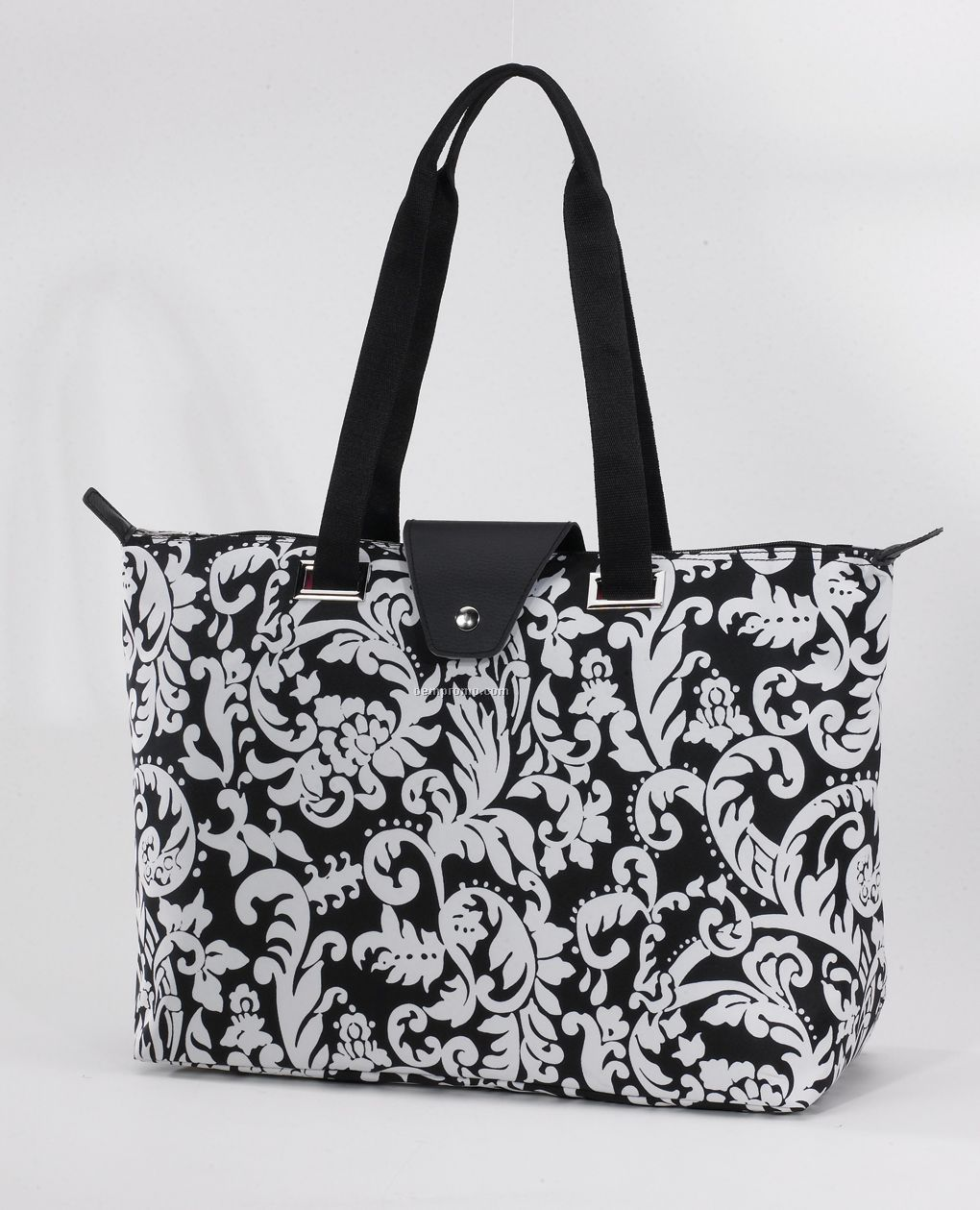 Hampton Fold-up Tote Bag - Damask Pattern