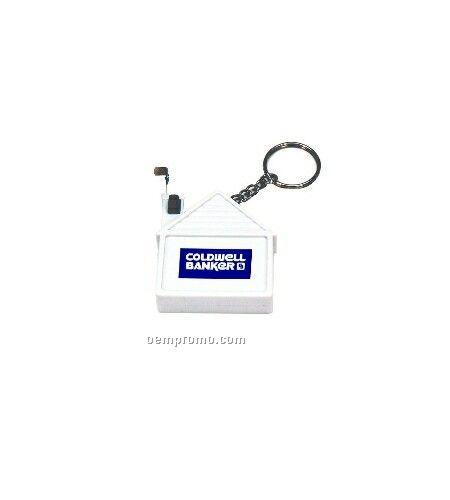 House Shape Tape Measure W/Keychain