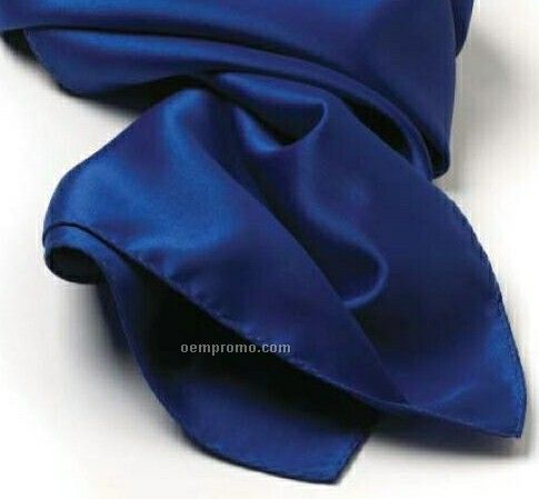 """Wolfmark Solid Series Royal Blue Polyester Satin Scarf (45""""X8"""")"""