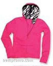 Youth Cut Custom Lined Raw Edge Hoodie Sweatshirt