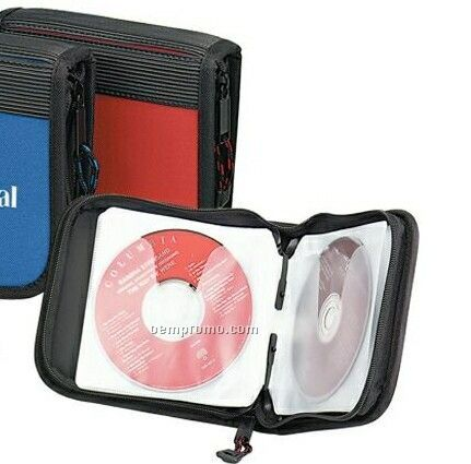 24-cd Holder With Ribbed Rubber