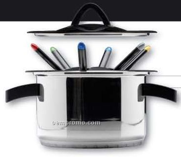 9 Piece Party Fondue Set With Lid