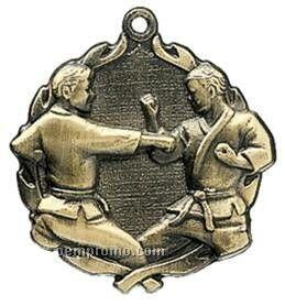 "Medal, ""Karate"" Wreath - 2-1/2"" Dia."