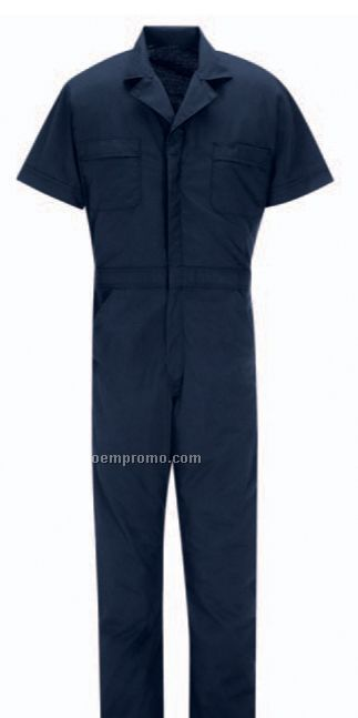 Men's Polyester/ Cotton Short Sleeve Speedsuit