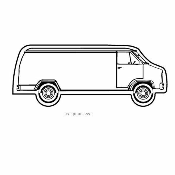 Stock Shape Long Van Recycled Magnet