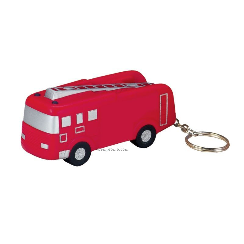 Fire Truck Squeeze Toy Key Chain