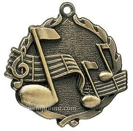 "Medal, ""Music"" Wreath - 2-1/2"" Dia."