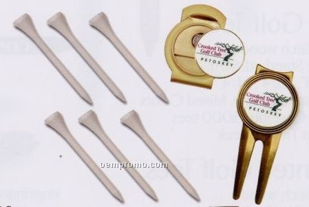 Quick Pack (Magnetic Repair Tool/ Ball Marker/ Hat Clip/ 6 Tees)