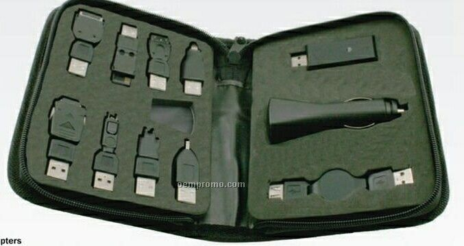 12 Piece Cell Phone And PDA Recharger Kit