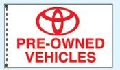 Checkers Single Face Dealer Spacewalker Flag (Toyota Pre-owned)