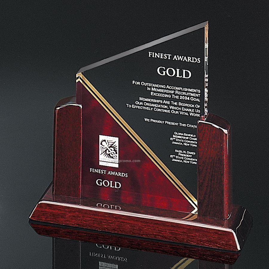 Elegant Summit Award - Maroon Red