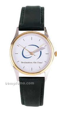 Ladies' Champ 2 Tone Watch W/Padded Leather Band
