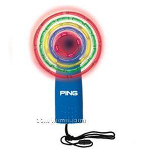 Light Up Pattern Fan W/ Blue Body & Rainbow LED