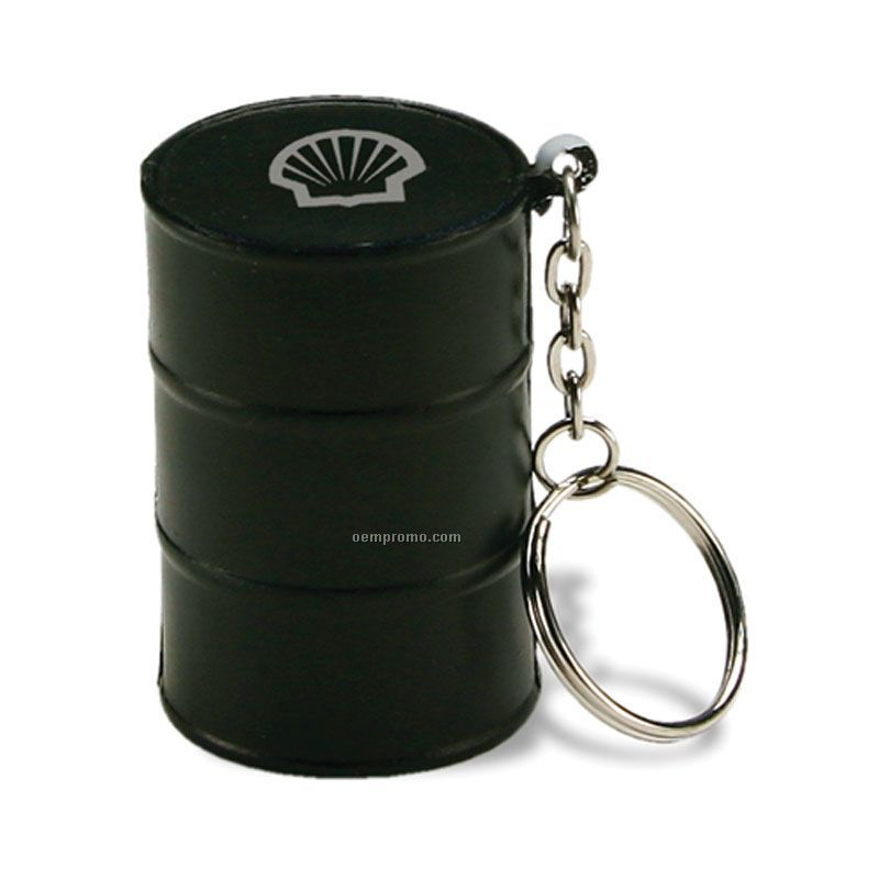 Oil Drum Squeeze Toy Key Chain