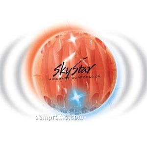 Red Whiffle Light Up Ball W/ Red & Blue LED