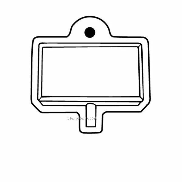 Stock Shape Collection Sign W/ Center Post Key Tag