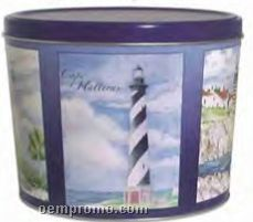 15t Tapered Tins 2 Gallon Coastal Lighthouse