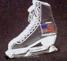 Acrylic Paperweight Up To 20 Square Inches / Ice Skate