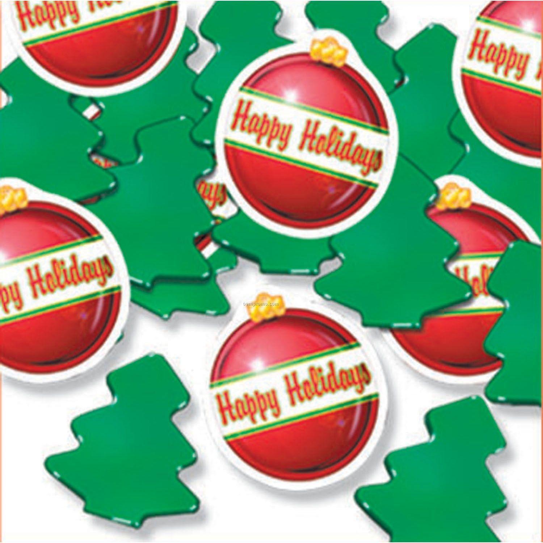 Christmas Balls & Trees Print Fetti Confetti