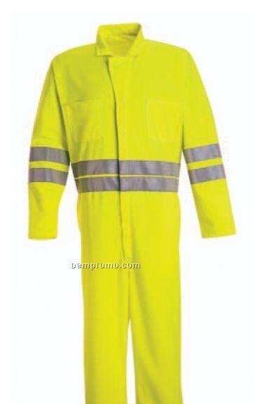 Hi-visibility Zip Front Coverall (Fluorescent Orange)