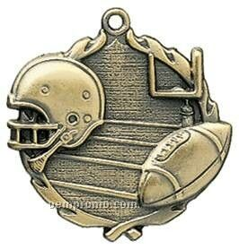 "Medal, ""Football"" Wreath - 2-1/2"" Dia."