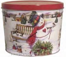 15t Tapered Tins 2 Gallon Country Snowman