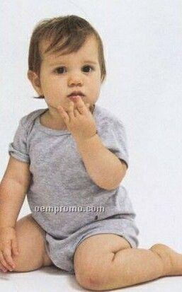 Infant Unisex Baby Rib Short Sleeve 1-piece Creeper