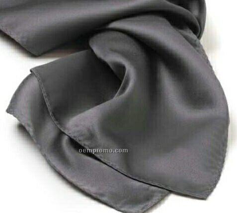 "Wolfmark Solid Series Dark Gray Polyester Satin Scarf (8""X45"")"