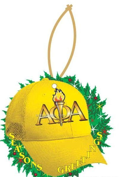 Alpha Phi Alpha Fraternity Hat Wreath Ornament W/ Mirror Back (2 Sq. Inch)