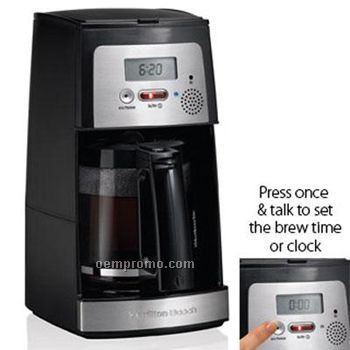 Hamilton Beach Easy Set Voice Activated Coffee Maker