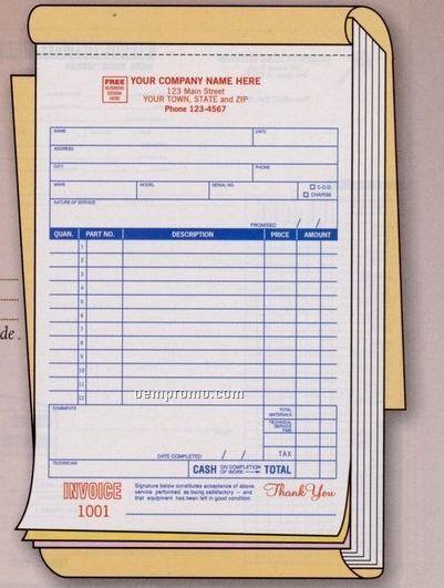 Large Service Order Book (3 Part)