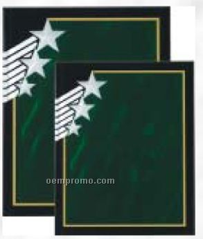 "Rising Star Acrylic Plaque In Green Marble (8""X10"")"