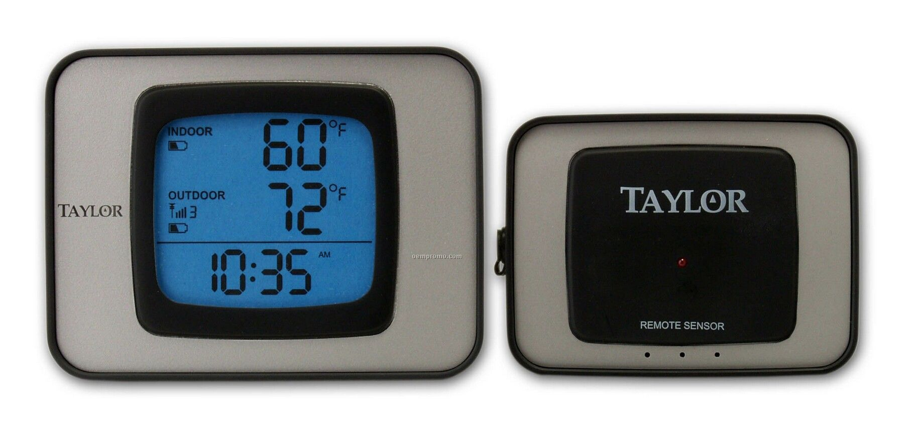 Taylor Wireless Indoor And Outdoor Thermometer W/ Clock