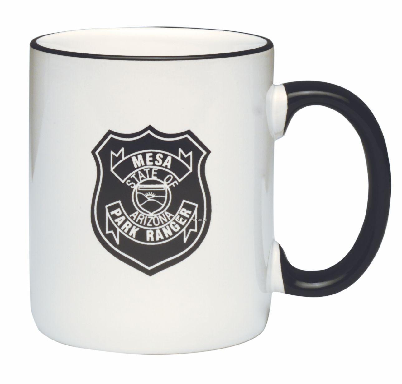 11 Oz. Heartland C-handle Mug W/Color Trim