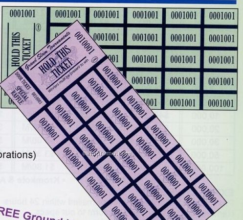 Auction Tickets - Generic